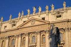 Vatican city: St. Peter's Basilica Royalty Free Stock Image