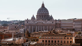Vatican city. St Peter's Basilica. Panoramic view of Rome and St Stock Photo