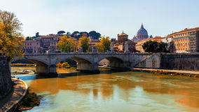 Vatican city. St Peter's Basilica. Panoramic view of Rome and St Royalty Free Stock Photos