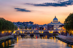 Vatican city. St Peter's Basilica. Panoramic view of Rome and St Royalty Free Stock Photo