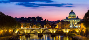 Vatican city. St Peter's Basilica. Panoramic view of Rome and St Stock Photography