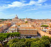 Vatican City. St. Peter's Basilica and Vatican museums. Royalty Free Stock Photo