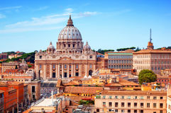 Vatican City. St. Peter's Basilica and Vatican museums. Stock Image