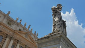 Vatican city, st peter's square, timelapse, zoom in, 4k stock footage