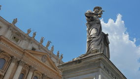 Vatican city, st peter's square, timelapse, zoom out, 4k stock footage