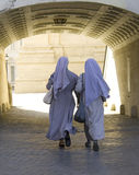 Vatican city state   enclave  catholic nuns arch Royalty Free Stock Photo