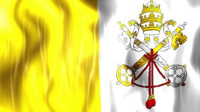 Vatican City State Flag Animation. Ultra HD, 3840x2160 Pixels, Realistic Flag Animation stock video