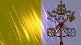 Vatican City State  Flag Loopable Background stock video