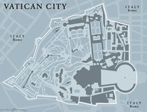 Vatican City State political map Stock Images