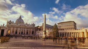 Vatican city. Vatican city time laps. St. Peter`s Square. Vatican city time laps. St. Peter`s Square. Holy See.Vatican city stock footage