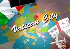 Vatican City city travel and tourism destination concept. Italy royalty free illustration