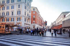 VATICAN CITY,VATICAN-January 6 : Tourists on foot Saint Peter's Royalty Free Stock Photography