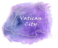 Vatican City vector map illustration Royalty Free Stock Image