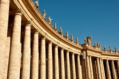 The Vatican Colonades,Rome Italy Stock Image