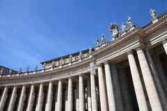 Vatican colonnade Stock Image