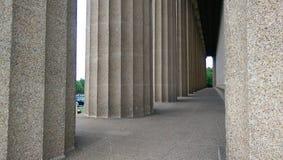 Vatican - columnas de la plaza S foto de archivo libre de regalías