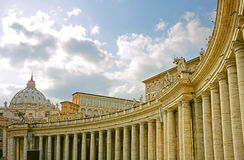 Vatican columns Royalty Free Stock Image