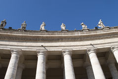 Vatican columns Stock Photography