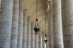 Vatican columns Royalty Free Stock Photography