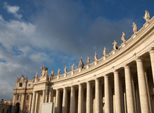 Vatican. Columns in Rome, Italy Royalty Free Stock Photo
