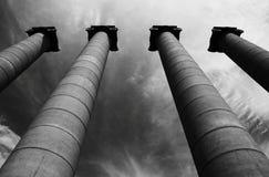 Vatican - colunas da praça S Foto de Stock