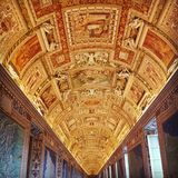Vatican Corridors Royalty Free Stock Images