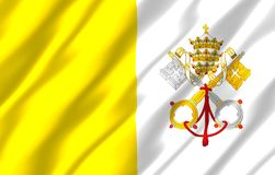 Vatican realistic flag illustration. Usable for Background and Texture vector illustration