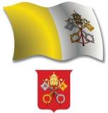 Vatican a donné au drapeau une consistance rugueuse onduleux Photo stock