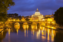 Vatican at dusk Royalty Free Stock Images