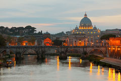 Vatican at early evening Royalty Free Stock Photography