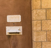 Vatican Embassy Mailbox  in the Holy Land. Jaffa, Stock Images