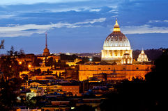 Vatican at evening Stock Photo