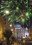 vatican Feux d'artifice de célébration au-dessus de la place d'un St Peter photographie stock