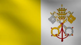 Vatican flag. Animation of Vatican flag moving stock video