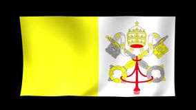 Vatican Flag. Background Seamless Looping Animation. 4K High Definition Video. stock footage