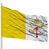 Vatican Flag on Flagpole Stock Image