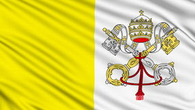 Vatican Flag. Vatican Flag, with real structure of a fabric stock video footage