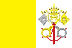 Vatican Flag vector illustration. Vatican Flag. Royalty Free Stock Images