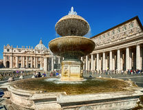 Vatican fountain Stock Photography
