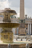 Vatican Fountain. Fountain on a square of Vatican. Rome. Italy Stock Photo