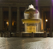 Vatican Fountain by Night Stock Photography