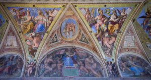Vatican frescoes. Stock Images