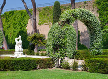 A Vatican garden in a sunny day Royalty Free Stock Photo