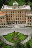 Vatican gardens and buildings Stock Photo