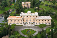 Vatican gardens palace of Governorate Stock Photos