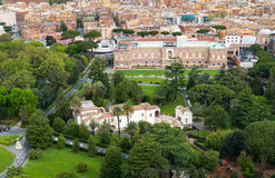 Vatican gardens, Rome. Aerial view Stock Photo