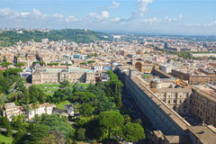 Vatican Gardens, Rome.bird's-eye Royalty Free Stock Photo