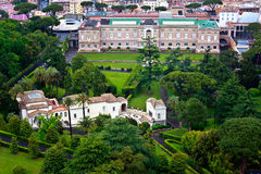 Vatican Gardens in Rome, Italy-Bird's eye view Stock Photography