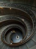 Vatican-gewundenes Treppenhaus Stockfotografie