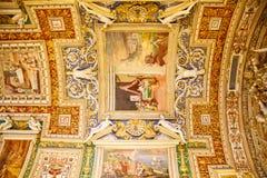 Vatican Hallway Ceiling Stock Photo